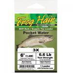 Frog Hair  Pocket Water Vorfach Stiff Butt 0,152 / 0,584 mm  1,80 Meter Tragkraft 2,00 kg