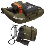SNOWBEE FLOAT TUBE KIT INC. FLIPPERS, PUMP & CARRY BAG