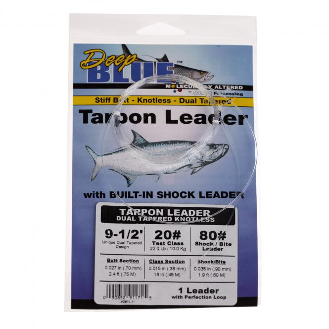 Deep Blue  Tarpon Leader Dual Tapered Knotless Vorfach